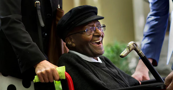 Desmond Tutu: 'For those suffering unbearably and coming to the end of their lives, merely knowing that an assisted death is open to them can provide immeasurable comfort.' (Photograph: Rodger Bosch/AFP/Getty Images)
