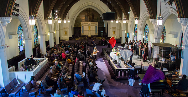 Bethel African Methodist Episcopal Church in Boston observed The Conversation Project's Conversation Sabbath in November 2015. (Photo courtesy of The Conversation Project)