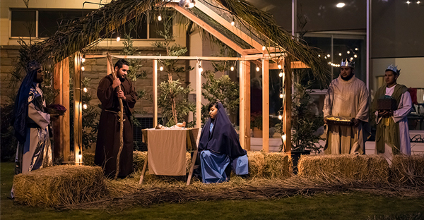 A Festival of Trees event includes a live Nativity scene at St. Anthony's Retreat in Three Rivers, Calif., on Nov. 17, 2016. (Photo courtesy of Tommy Lee Kreger via Creative Commons)