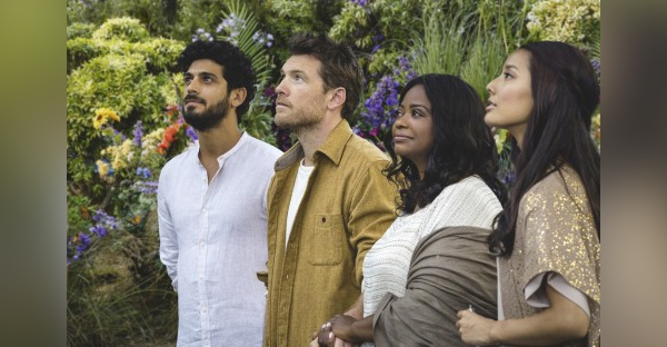 "From left: Jesus (Aviv Alush), Mack Phillips (Sam Worthington), Papa (Octavia Spencer) and Sarayu (Sumire Matsubara) in ""The Shack."" (Jake Giles Netter/Lionsgate)"