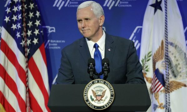 Mike Pence in February 2017. (Photograph: John Locher/AP)