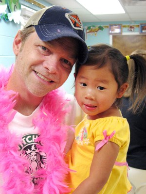 """Steven Curtis Chapman with his daughter Maria at her preschool in 2006. Photo from """"Between Heaven and the Real World"""" by Steven Curtis Chapman with Ken Abraham. / Image courtesy of Revell, a division of Baker Publishing Group"""