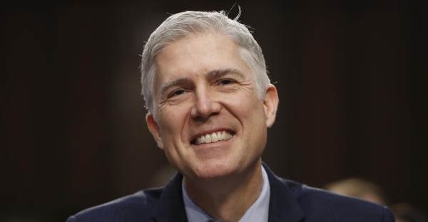 In this March 21, 2017 photo, Supreme Court Justice nominee Neil Gorsuch smiles on Capitol Hill in Washington, during his confirmation hearing before the Senate Judiciary Committee. (AP Photo/Pablo Martinez Monsivais)