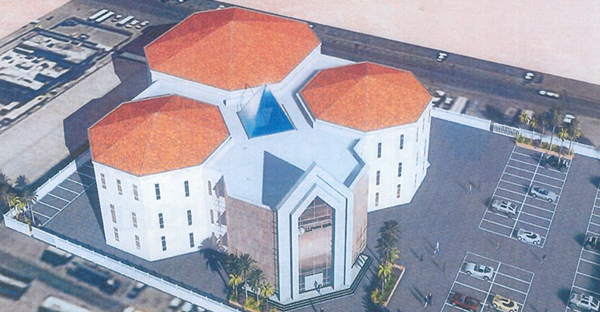 An artist's rendering of what All Saints Anglican Church will look like when completed in Abu Dhabi, United Arab Emirates. (Image courtesy of St. Andrew's Anglican Church, Abu Dhabi)