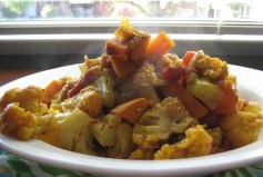 Indian-Style Cauliflower & Sweet Potato | © Life Through the Kitchen Window.com | © Life Through the Kitchen Window.com