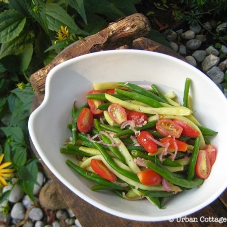 Green and Yellow Bean Salad ❘ © UrbanCottageLife.com