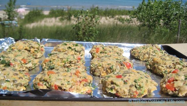 Lentil Cakes at the Beach  | ©  UrbanCottageLife.com