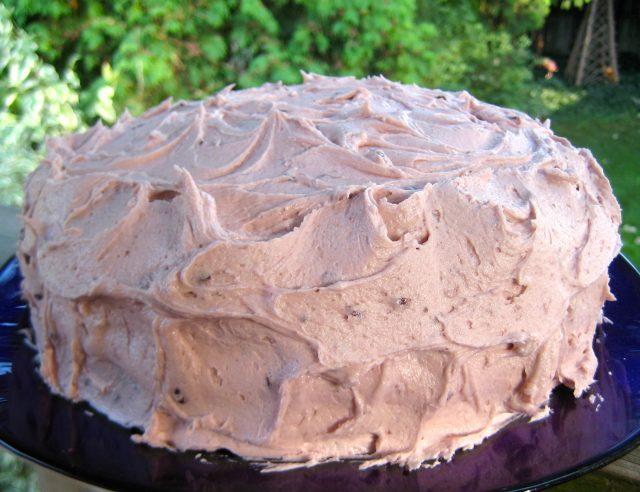 Chocolate Cake with Blackberry Buttercream | © UrbanCottageLIfe.com