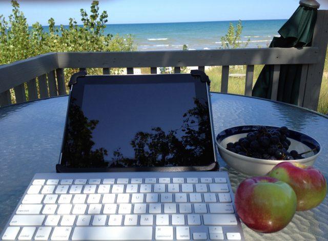 Writing at the Lake