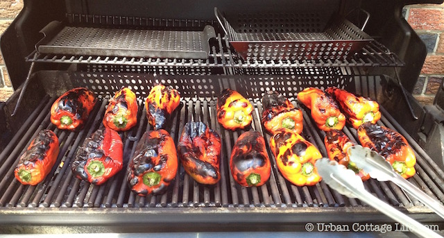 Roasting Peppers On the BBQ | ©  Urban Cottage Life.com