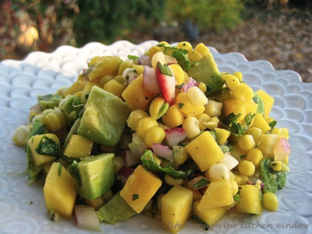 Mango Corn Salsa | © UrbanCottageLife.com