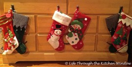 Stockings hung with care, ready for filling