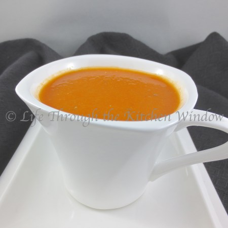 Tomato Soup with Red Lentils │lifethroughthekitchenwindow.com