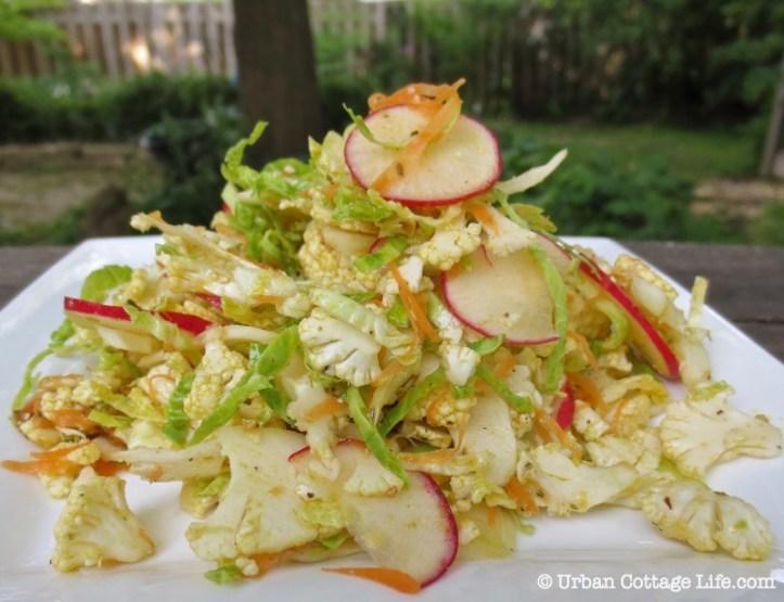 Southwest Cauliflower Salad ❘ © UrbanCottageLife.com