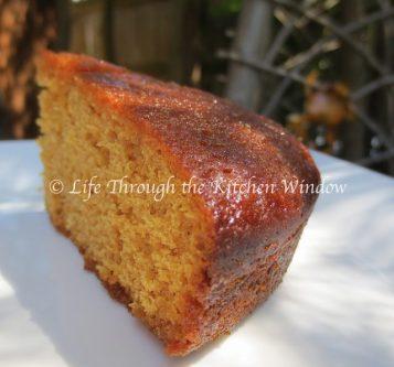 Slice of Lemon Buckwheat Honey Cake | © UrbanCottageLife.com