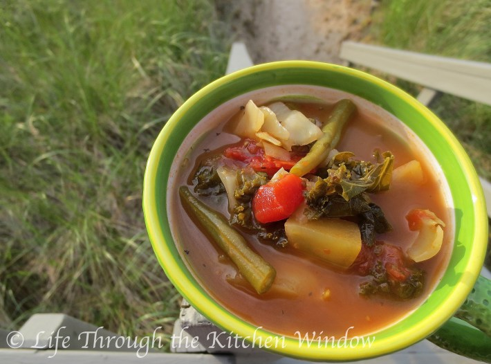 Cabbage & Kale Soup | © Life Through the Kitchen Window