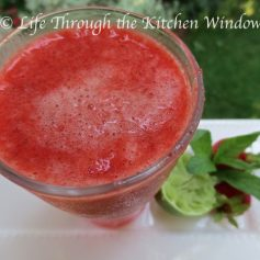 Random Act of Love 🍓 Iced Strawberry Smoothie | © Life Through the Kitchen Window