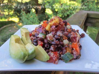 Red Quinoa & Black Bean Salad with Mango | © UrbanCottageLIfe.com