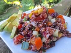 Red Quinoa & Black Bean Salad with Mango | © Life Through the Kitchen Window