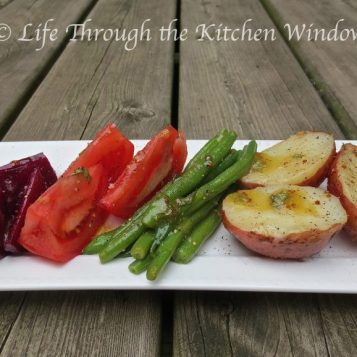 Composed Salad with Red Wine Vinaigrette │ © Life Through the Kitchen Window