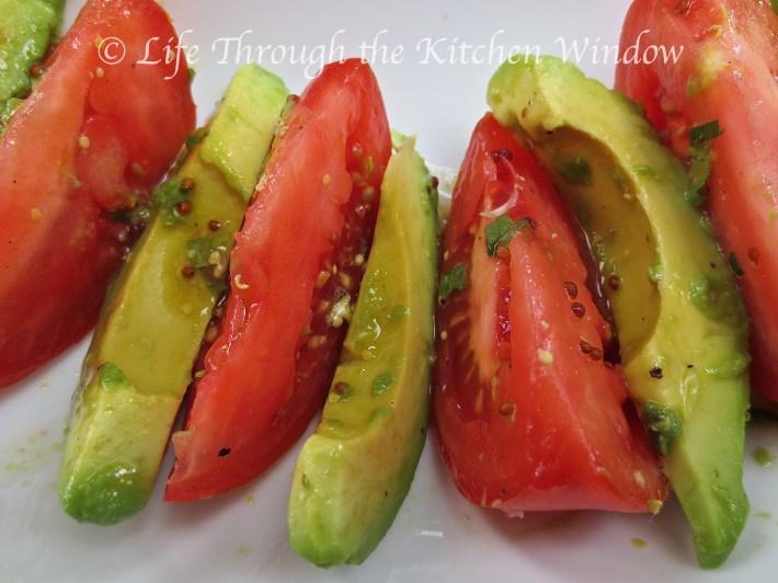 Tomato & Avocado Salad with Lime Vinaigrette ⎮ © Life Through the Kitchen Window