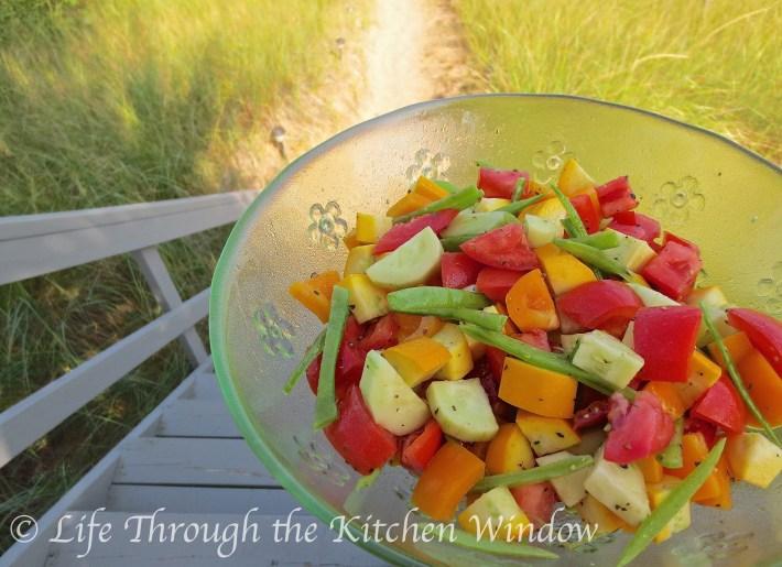 Summer Jumble Salad | © Life Through the Kitchen Window