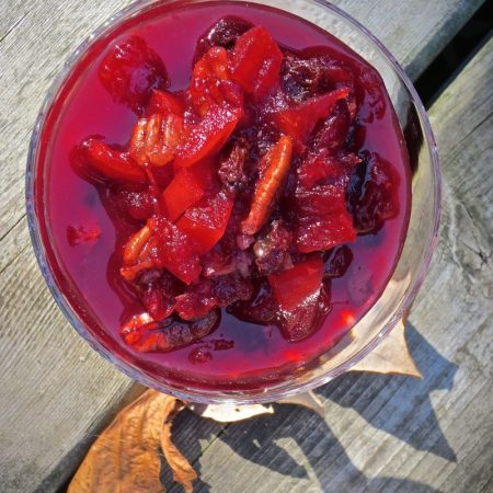 Cranberry Compote | © Life Through the Kitchen Window .com