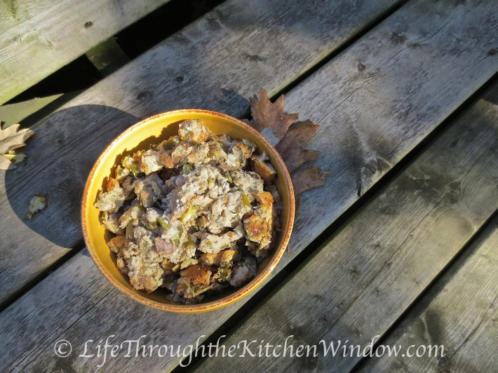 Thanksgiving Turkey & Stuffing | © Life Through the Kitchen Window
