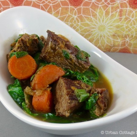 Ginger Orange Beef Stew ❘ UrbanCottageLife.com