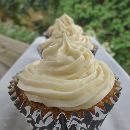 Ginger Carrot Cupcakes with Ginger Cream Cheese Frosting | © UrbanCottageLife.com