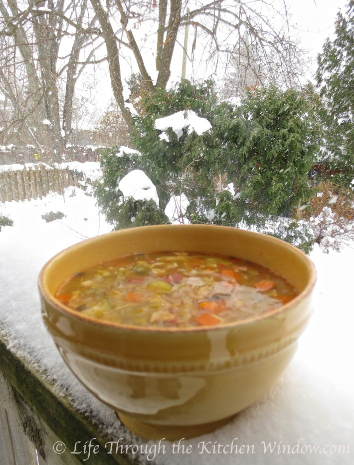 Brussels Sprouts & Pancetta Soup | © Life Through the Kitchen Window.com