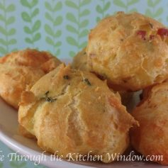 Classic Gruyere & Thyme Gougere | © Life Through the Kitchen Window.com