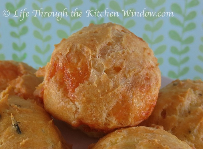 Spicy Sharp Cheddar Gougere | © Life Through the Kitchen Window.com
