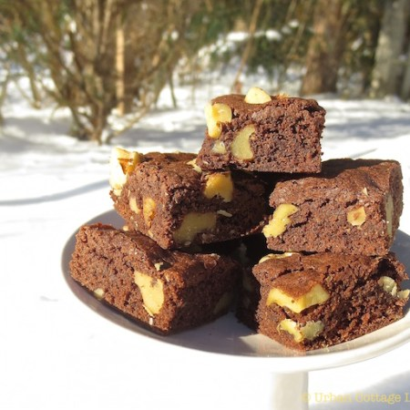 Nut-Topped Cocoa Brownies | © UrbanCottageLife.com