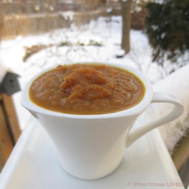 Carrot, Squash & Apple Soup | © UrbanCottageLife.com 2014