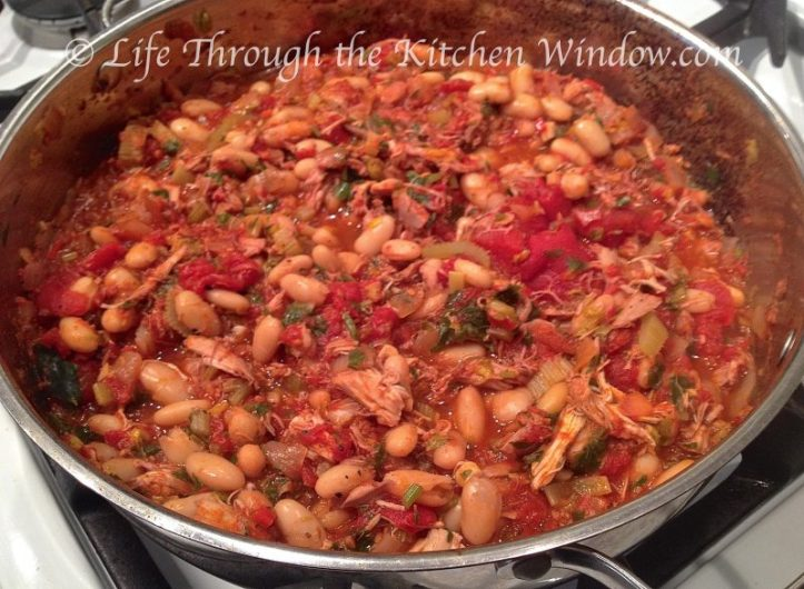 Chicken, Tomatoes & Cannellini Beans | © Life Through the Kitchen Window.com
