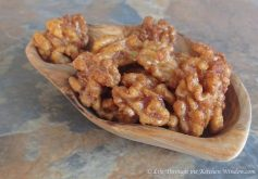 Maple Glazed Kicky Walnuts | © Life Through the Kitchen Window.com