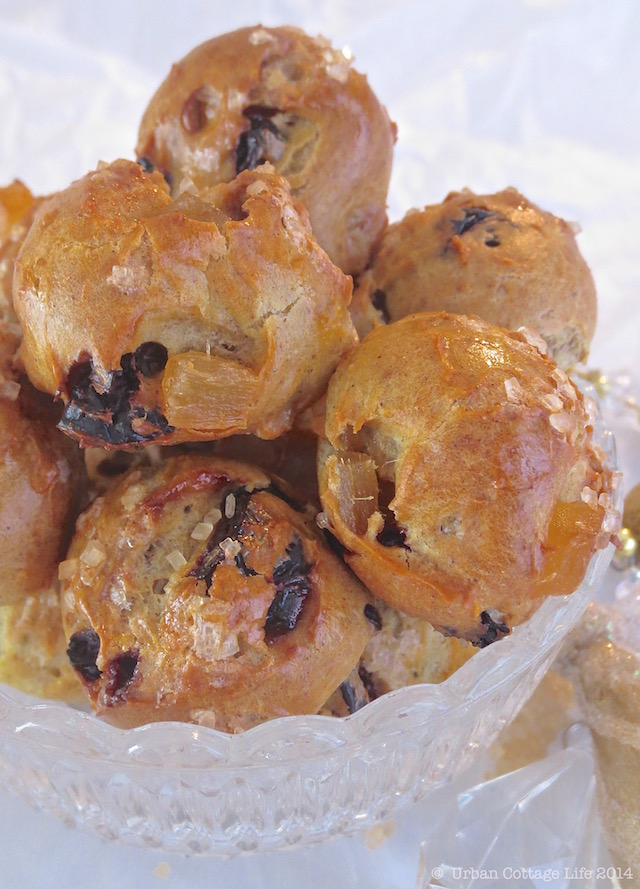 Ginger & Sour Cherry Puffs | © UrbanCottageLIfe.com