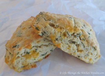 Basil & Aged Cheddar Scones | © Life Through the Kitchen Window.com