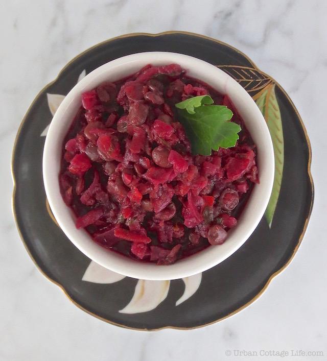 Braised Lentils, Beets & Squash   © Urban Cottage Life.com