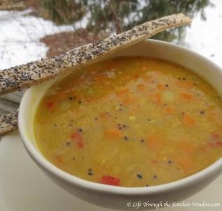 Sweet Potato, Coconut & Red Lentil Soup | © Life Through the Kitchen Window.com
