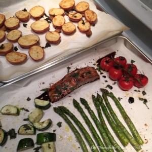 Salmon Baking Tray Dinner   © Life Through the Kitchen Window.com