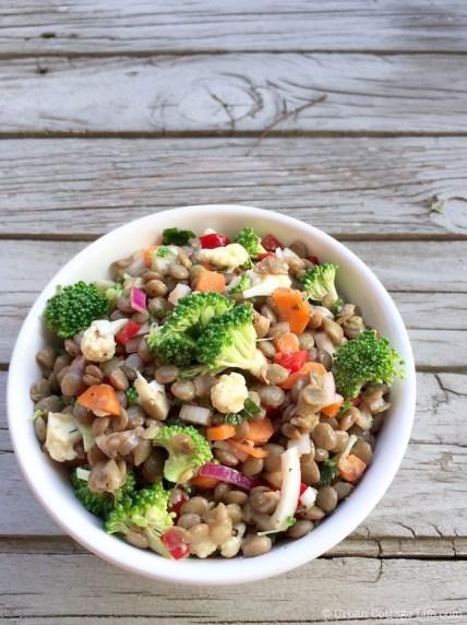 Lentil & Broccoli Salad | © Urban Cottage Life.com