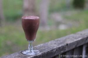 Raspberry Cacao Smoothie | © UrbanCottageLife.com