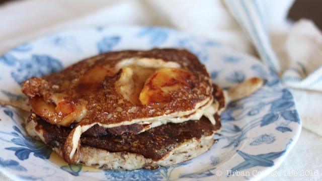 Caramelized Apple Sour Cream Pancakes | © UrbanCottageLife.com 2016