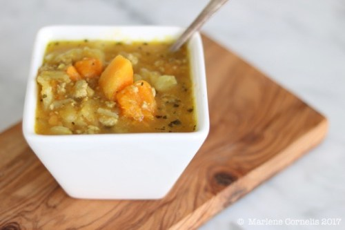 Turkey, Cabbage & Squash Soup with Fennel Seeds  © UrbanCottageLife.com 2017