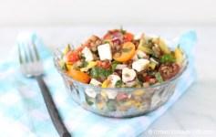 Lentil and Feta Summer Salad | © UrbanCottageLife.com