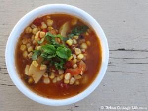 Grilled Corn Soup   © UrbanCottageLife.com