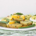 Potato Salad with Basil Vinaigrette | © UrbanCottageLife.com