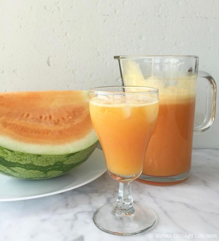 Orange Watermelon Lemonade   © UrbanCottageLIfe.com